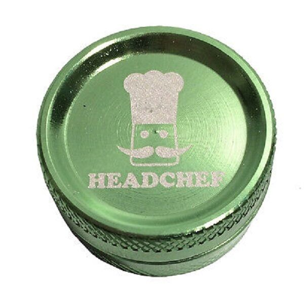 Head Chef Small Aluminium Metal Herb & Spice Grinder 30mm 2 Part Green