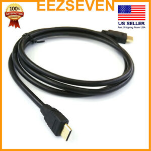 Mini-HDMI-to-HDMI-Cable-High-Speed-1080p-FOR-HDTV-Gold-Plated