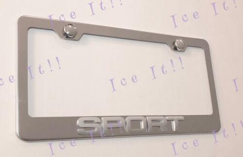 SPORT 3D Emblem LANND ROVER FORD Stainless Steel License Plate Frame W//Caps