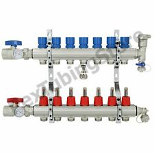 7 Branch Pex Radiant Floor Heating Manifold Set Brass For 38 12 58 Pex