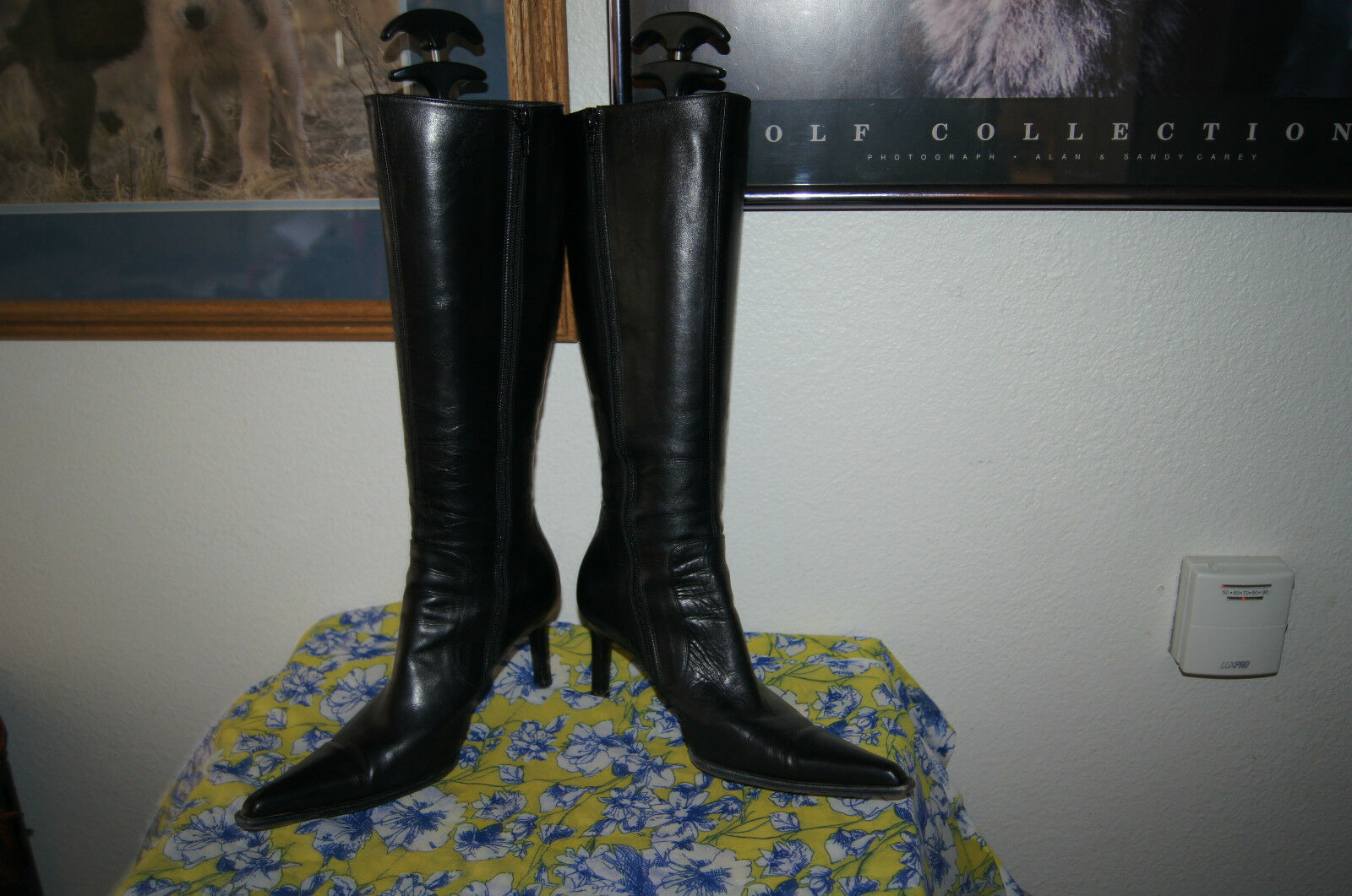 OMARI BOOTS 7 TALL Leather BootS BOOTS 7 HIGH HEEL ITALIAN BOOTS BootS 7 /37.5 HIGH FASHION 0db621