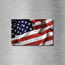 TWO (2) 2X3 INCH American Flag USA US Bumper UV Vinyl Outdoor Sticker Decal NEW!