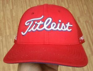 Titleist ProV1 FootJoy New Era Red Golf Hat ~ Men s Medium   Large ... 07750c1a4cf9
