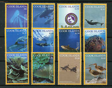 Cook Isl 2016 MNH Marae Moana Marine Life 12v Set Sharks Dolphins Birds Stamps