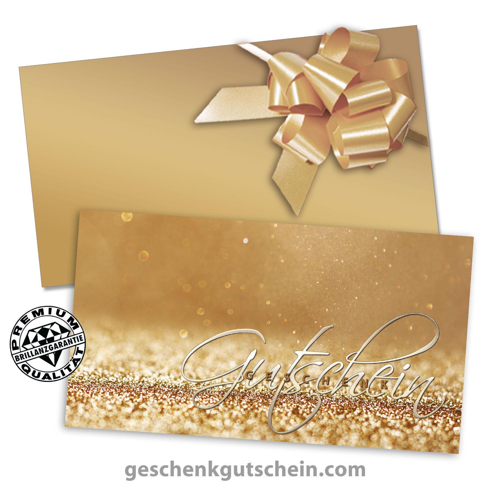 Gutscheinkarten mit KuGrüns und Schleifen für Juweliere Goldschmiede SC1263