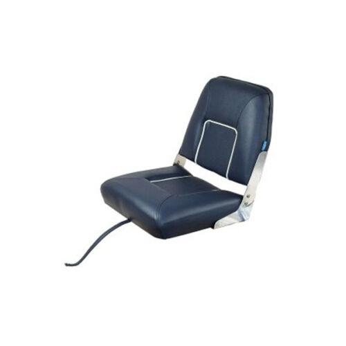 Bootssitz klappbar blau mit weißen Streifen TC3121