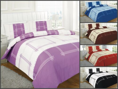 Luxury New CAMPUS Poly-cotton Duvet Cover With Pillowcase Single Double King