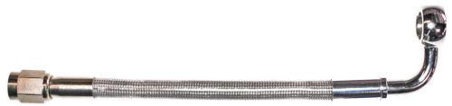 "AN-3  20/"" long ST X 90ø banjo 3//8/""-10M  CC stainless steel braid hose"