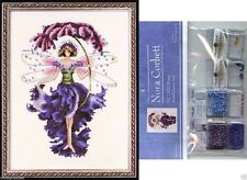 Mirabilia Cross Stitch Chart with Embellishment Pack ~ PANSY #132 Sale