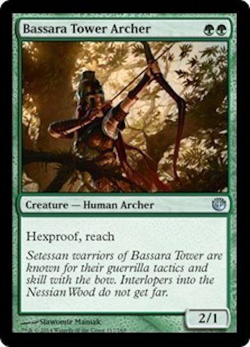 4x Bassara Tower Archer //// NM //// Journey into Nyx //// S //// Magic Gathering