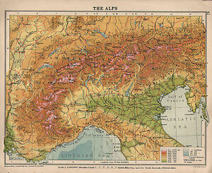 1934 map switzerland the alps italy land heights ebay image is loading 1934 map switzerland the alps italy land heights sciox Gallery