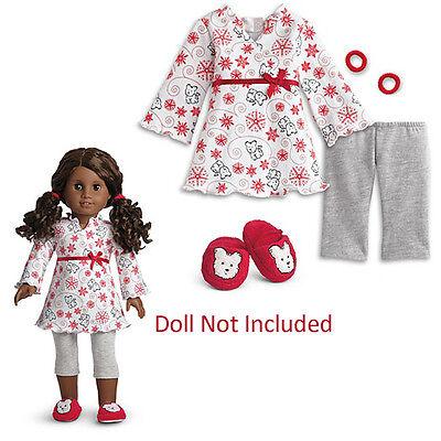 American Girl My Ag Kokosnuss Schlafanzug Für 45.7cmdolls Outfit Hausschuhe Im