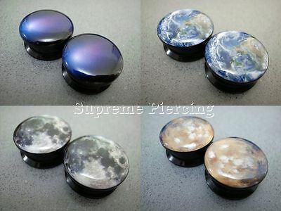 Multiple Planets Comets Meteor Milky Way Galaxy Space Flesh Tunnels Ear Plugs