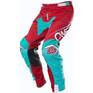 ONeal mayhem Lite pantalones bloqueador rojo azul Moto cross downhill MTB mountain bike FR