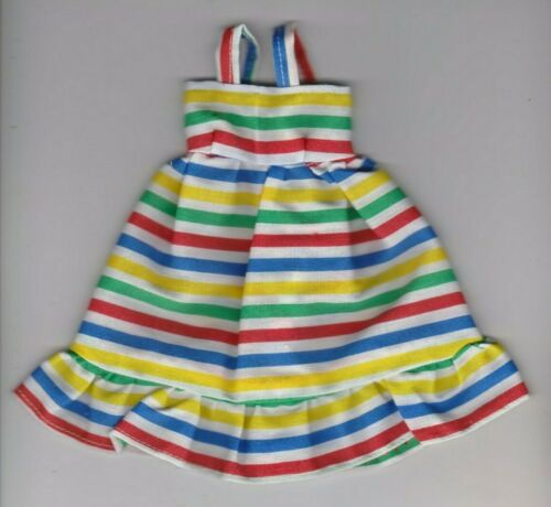 Doll Clothes-Pretty Striped Print Sundress fit Barby Doll-Homemade ES1
