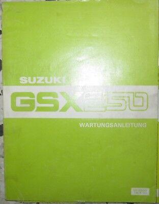 * Suzuki Gsx250 Gsx 250 Werkstatthandbuch Wartungsanleitung 4/1981