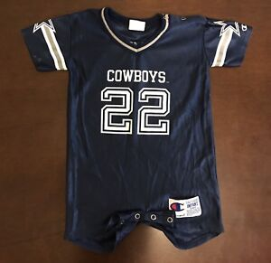 competitive price ee8a2 ce237 Details about Champion NFL Dallas Cowboys Emmitt Smith Romper Jersey Baby  Infant 18 Months