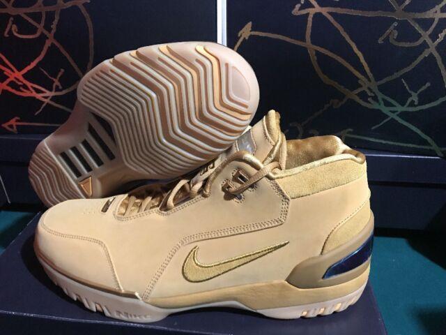 6cac342c7a9 Nike Air Zoom Generation ASG QS Size 11 Wheat Gold Aq0110 700 Lebron ...