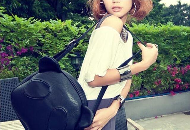 Cute Panda Style Elegant Female Handbag  Satchel CrossBody Shoulder Bag Purse