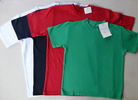 Kinder Damen Herren T-Shirt Unterhemd 100% Baumwolle T-Shirts 104 - XXL NEU