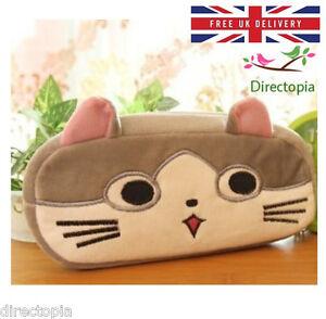 Plush Cat Pencil Case Cosmetic Bag Kawaii Kitty Anime Japan Chi's Sweet Home