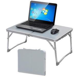 campingtisch laptoptisch pflegetisch notebooktisch betttisch laptop st nder wei ebay. Black Bedroom Furniture Sets. Home Design Ideas