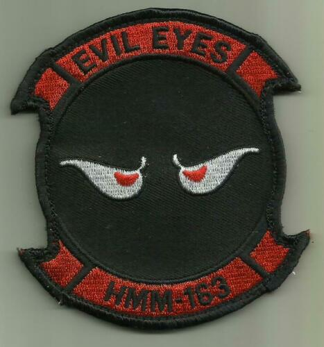 HMM-163 EVIL EYES USMC PATCH MARINE CORPS HELICOPTER SQ HELO PILOT AVIATION FLY