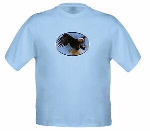 Eagle-flying-bird-sky-animal-gift-T-Shirt-Unisex-Kids-Tee-Girl-Boy-Youth-T-Shirt