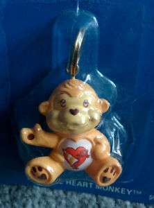 1985-Vintage-Care-Bear-Cousin-Figure-PLAYFUL-MONKEY-Attachable-Keychain-MOC