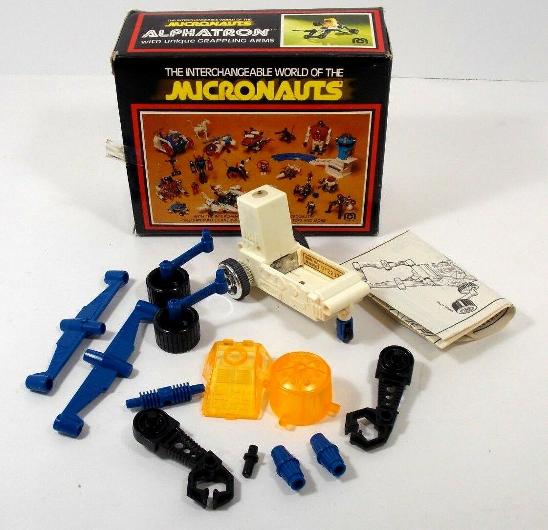 MEGO MICRONAUTS ALPHATRON W/BOX WORKS INCOMPLETE 1978