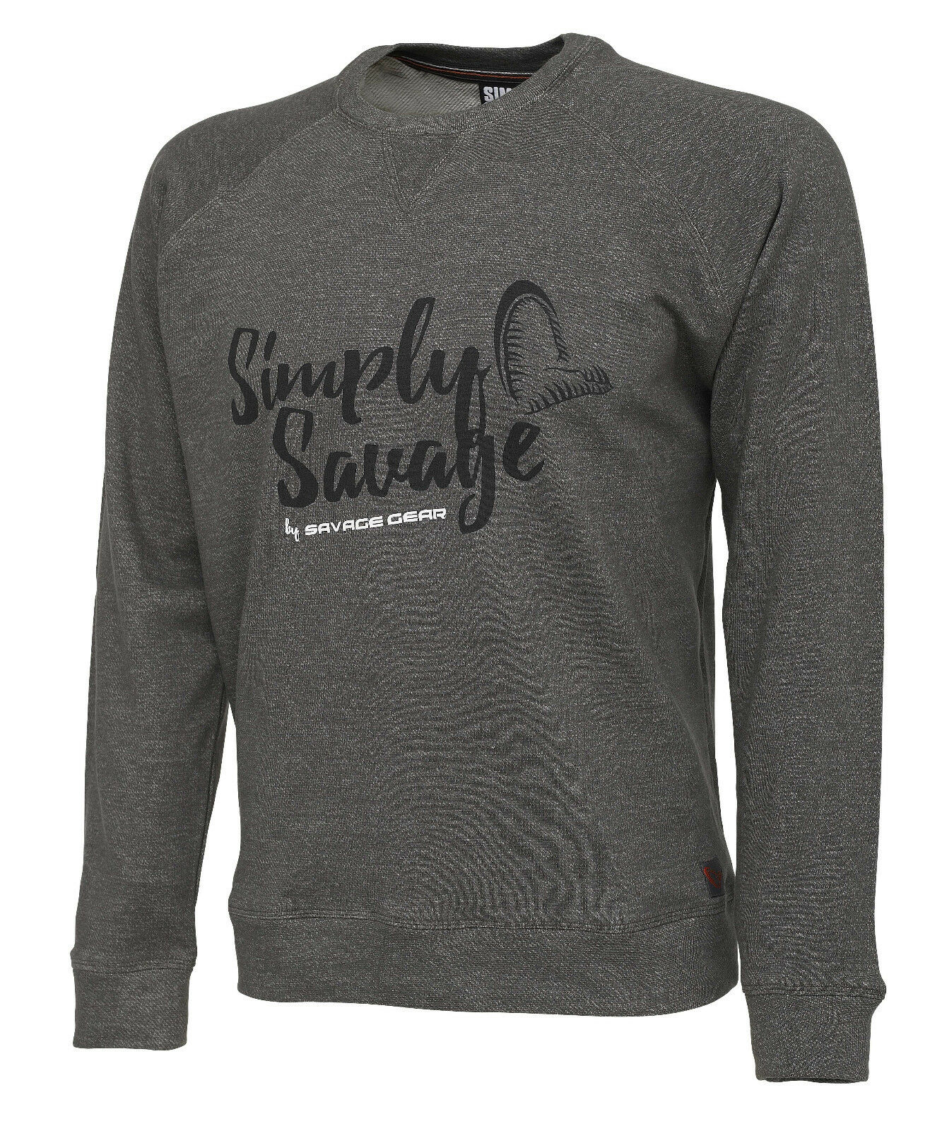 SAVAGE Gear simply SAVAGE  SWEATER melangè Grey S-XXL Sweatshirt  order now with big discount & free delivery
