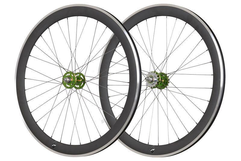 28  bahnrad ruedas novatec fixie verde. fixie Aero SW. 322-lrs14000011
