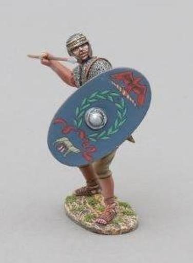 THOMAS GUNN ROMAN EMPIRE ROM030B LEGIONNAIRE AUXILIARY WITH SPEAR & SHIELD MIB