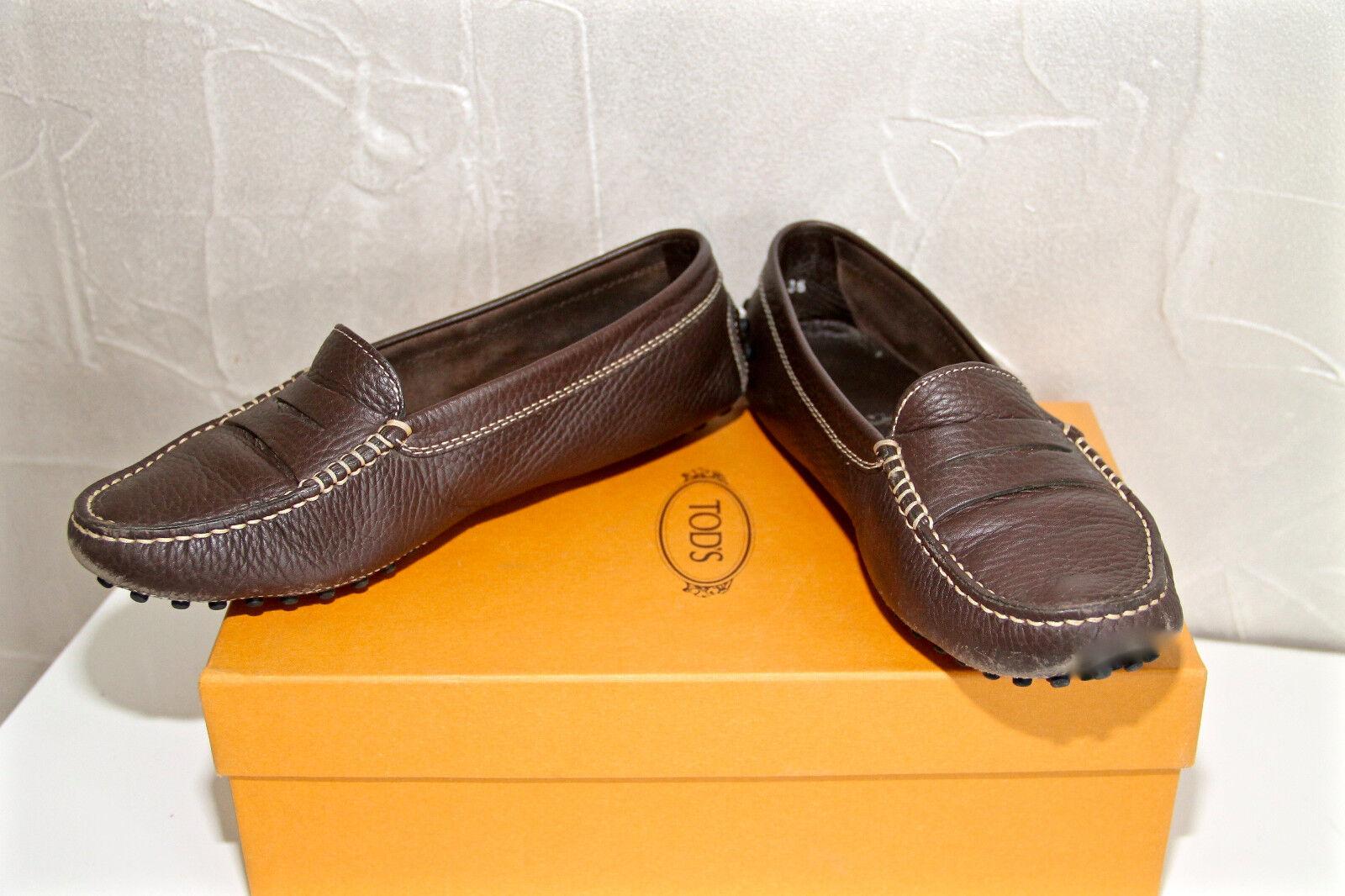 Lussuoso mocassini TOD'S senza lacci scarpe pelle marrone TOD'S TOD'S TOD'S   570fc4