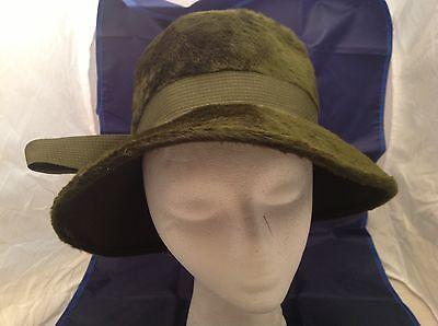 Vtg Ann Marie Hat Cloche Ribbon Chain Faux fur