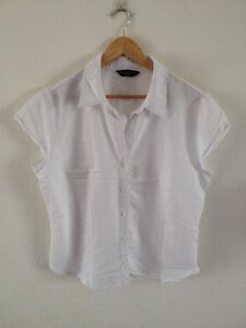 Dorothy-Perkins-Blouse-Shirt-Top-Size-18-White-lt-R12627