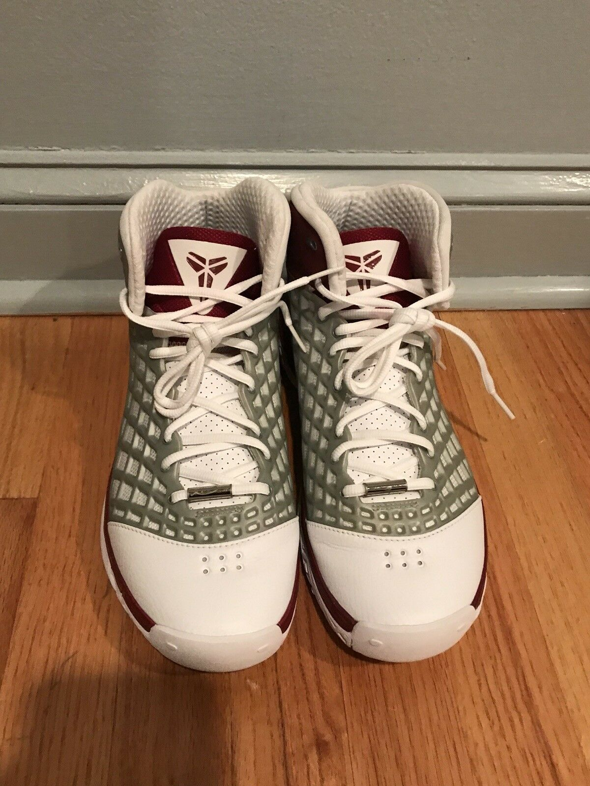 Nike Zoom KOBE III 3 LOWER MERION ACES ALL-STAR WHITE SILVER TEAM RED GREY 9.5