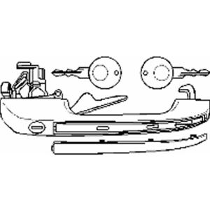 Manija de puerta delantera derecha-Topran 102 879