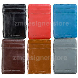 4d21eed9a279 Status Anxiety Men s Flip Fold Compact Slim Credit Card Case Bill ...