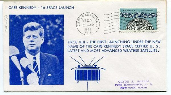 1963 Tiros Viii Cape Kennedy 1st Space Launch Canaveral Weather Satellite Space