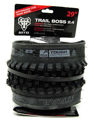 WTB Trail Boss Tire 29 x 2.4 TCS Tubeless Folding Black//Tan Light Fast Rolling