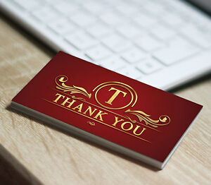 250 thank you business card printing for the ebay seller qty 250 image is loading 250 thank you business card printing for the reheart Gallery
