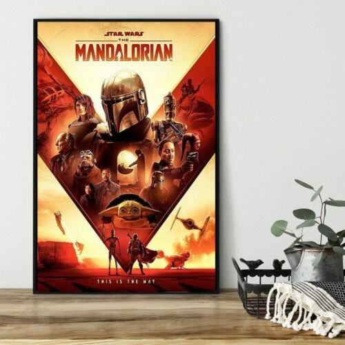 no frame Star Wars The Mandalorian this is the way Wall Decor Poster