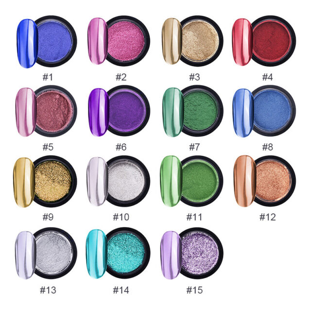 Nail Mirror Glitter Effect Powder Dust UV Gel Nail Art Manicure Chrome DIY