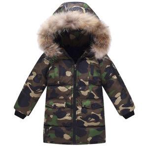 Fur-Hooded-Coat-Boys-Kids-Camouflage-Warm-Winter-Cotton-Padded-Long-Parka-Jacket