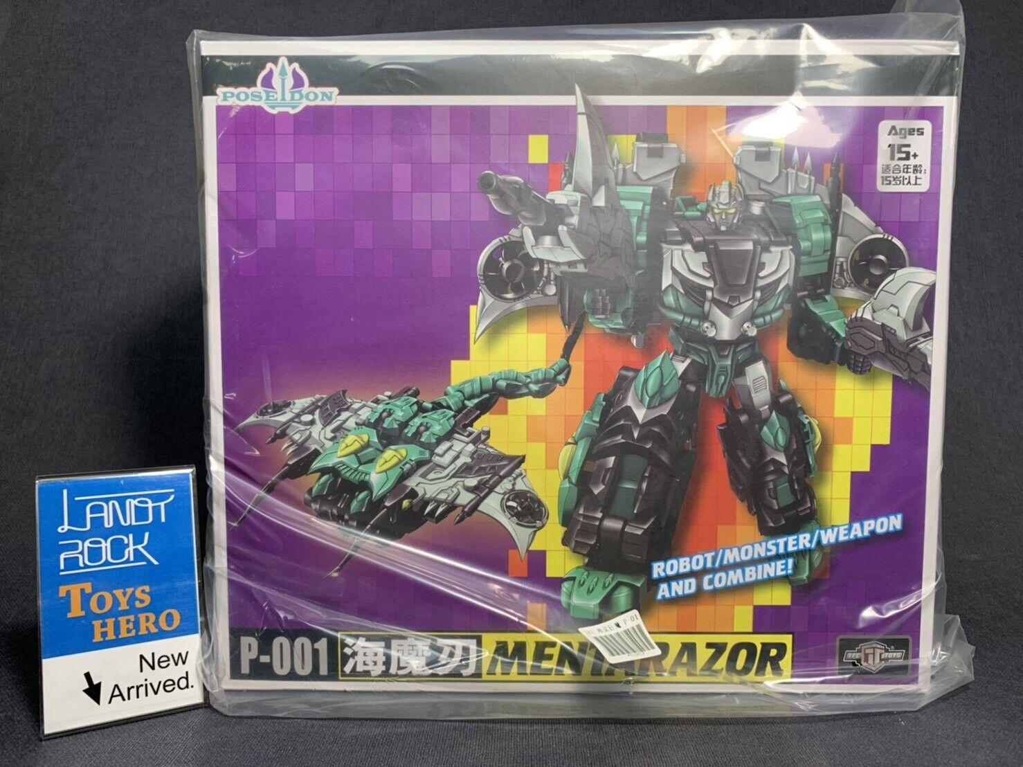 Héroe [juguetes] en mano Transformers de TFC P-001 Poseidon mentarazor Seawing Piranacon