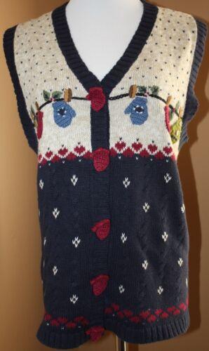 Molletta invernale di blu Xl Factory d'avena Holly Quacker Nwot lana farina di Muffole BzUnqwtYxY