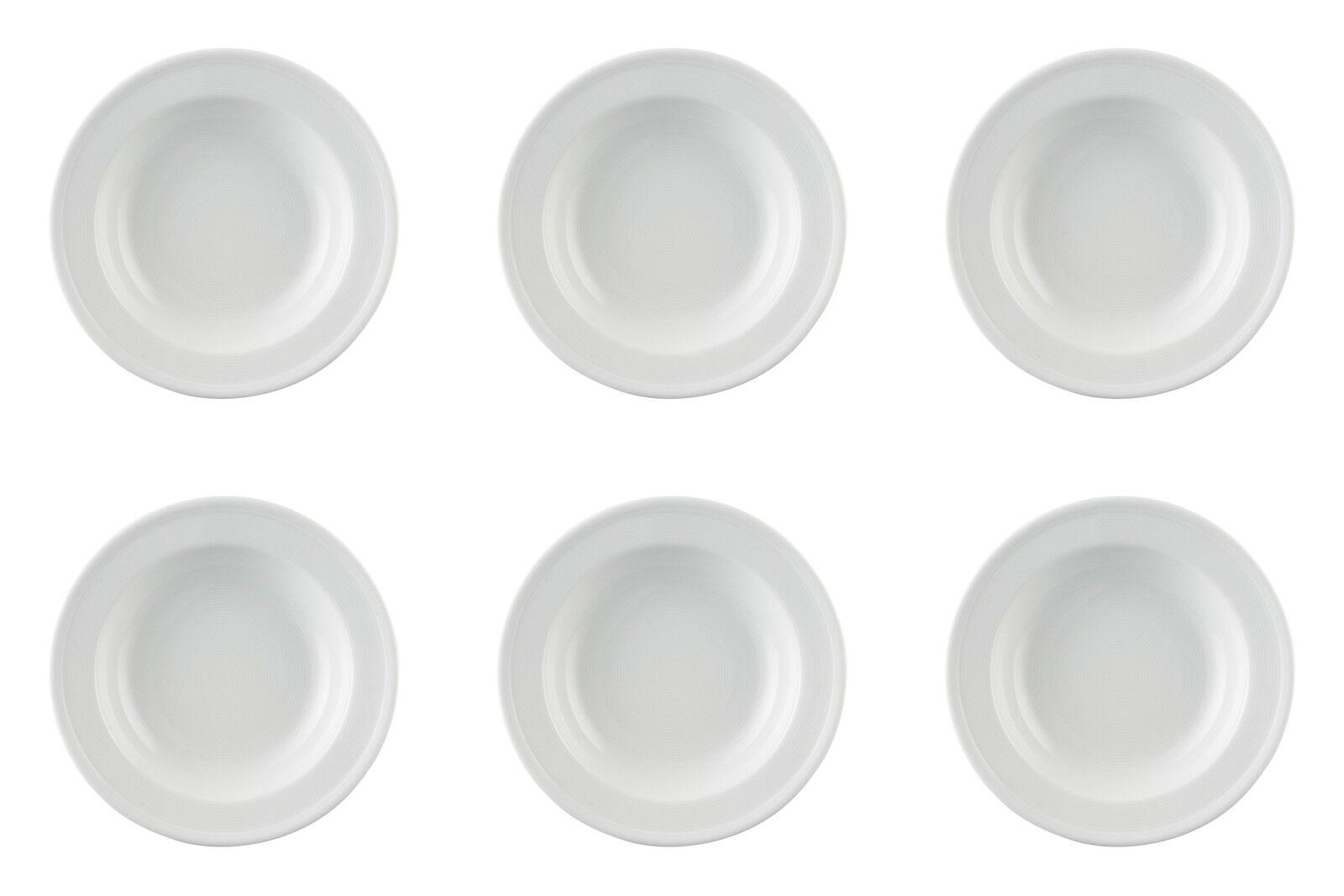 6 x Assiettes à soupe 24 cm Drapeau-Thomas Trend Blanc - 10124-Pasta Assiettes de Spaghetti