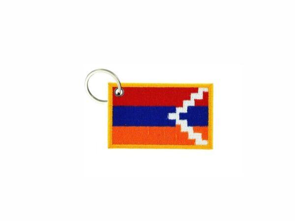 100% Vero Portachiave Chiavi Chiave Ricamo Toppa Badge Bandiera Top Karabakh Artsakh Avere Una Lunga Posizione Storica