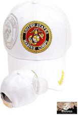 US Marine Corps WHITE Ball Cap USMC Veteran OEF OIF Vietnam Korea Vet EG&A Hat